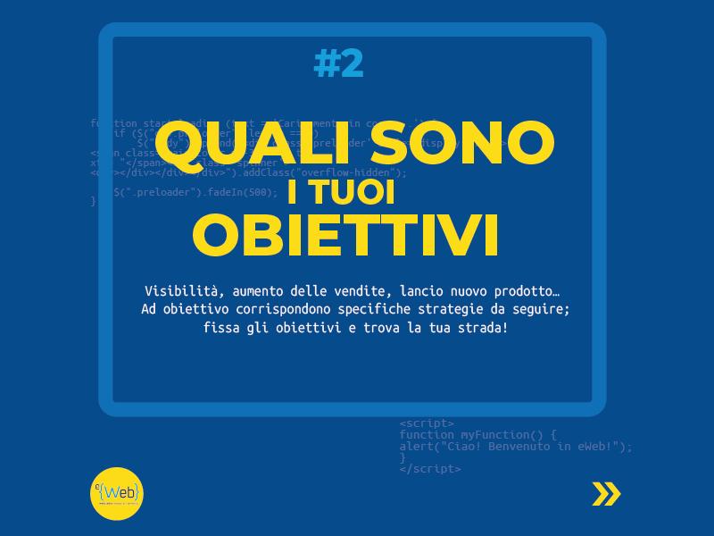 Tipologie siti web | come scegliere quello giusto: gli obiettivi -  Siti Internet & Web Marketing | eWeb SRL Bergamo