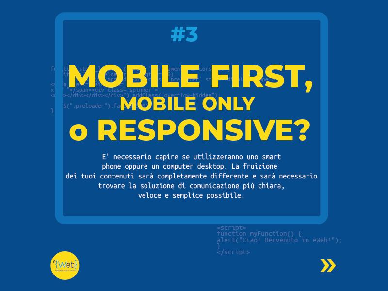 Tipologie siti web | come scegliere quello giusto: mobile first -  Siti Internet & Web Marketing | eWeb SRL Bergamo
