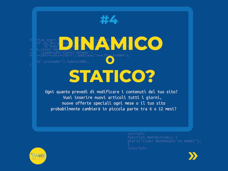 Tipologie siti web | come scegliere quello giusto: dinamico o statico -  Siti Internet & Web Marketing | eWeb SRL Bergamo