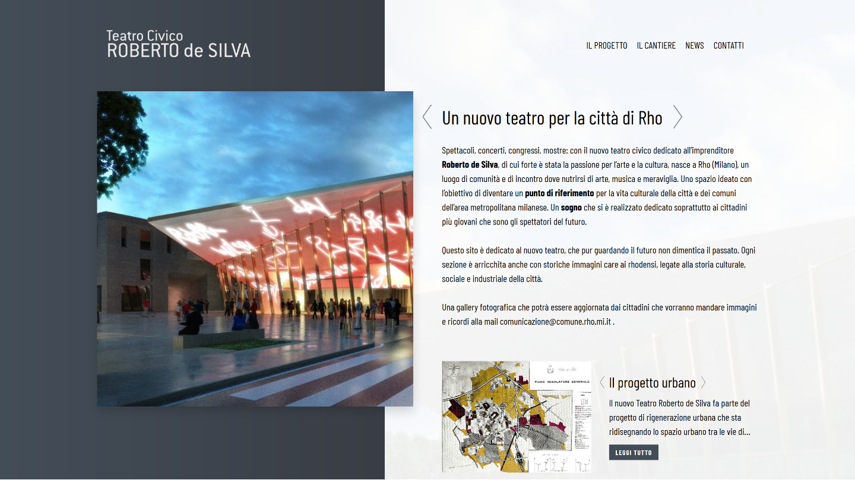 sito web Teatro Civico Roberto de Silva a Rho - tailor made by eWeb