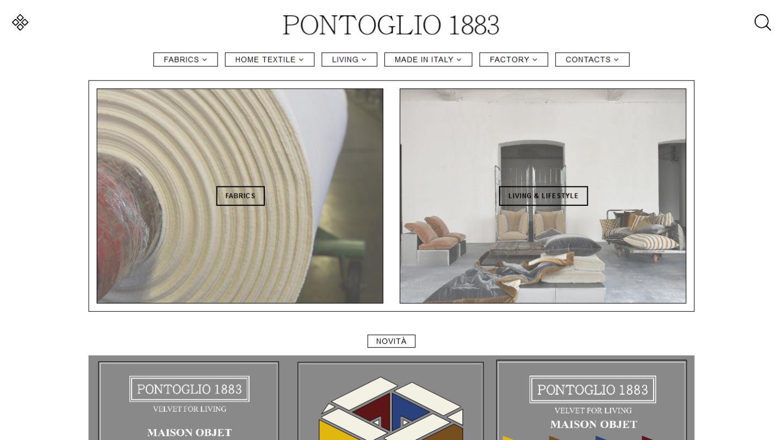 sito web Pontoglio SpA - tailor made by eWeb srl