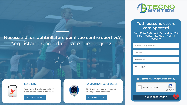 sito web Defibrillatori Bergamo | Tecno System - tailor made by eWeb
