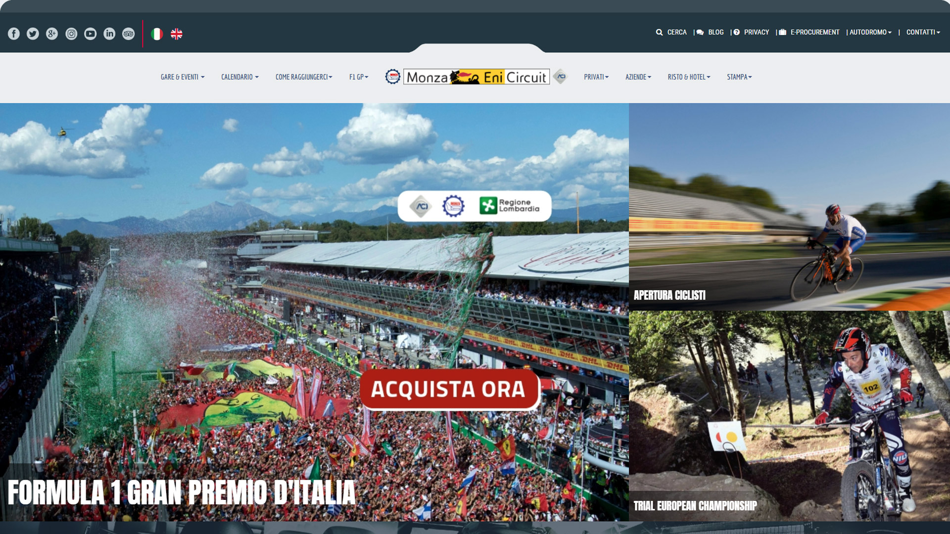Monza Eni Circuit - eWeb Srl - web tailor design and marketing