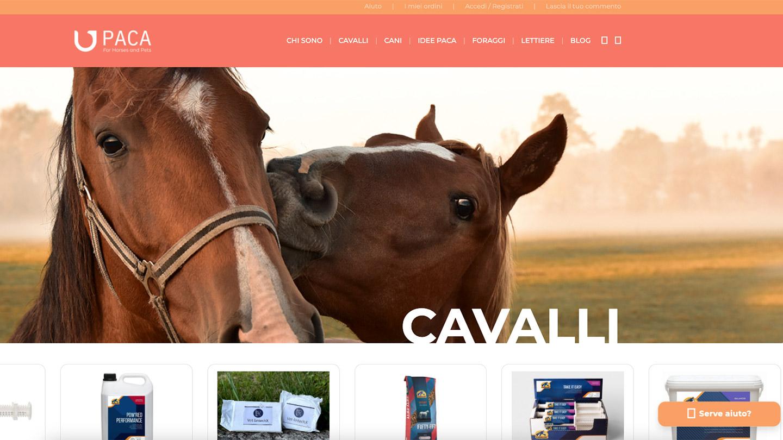Paca Shop - eshop realizzato da eWeb Bergamo