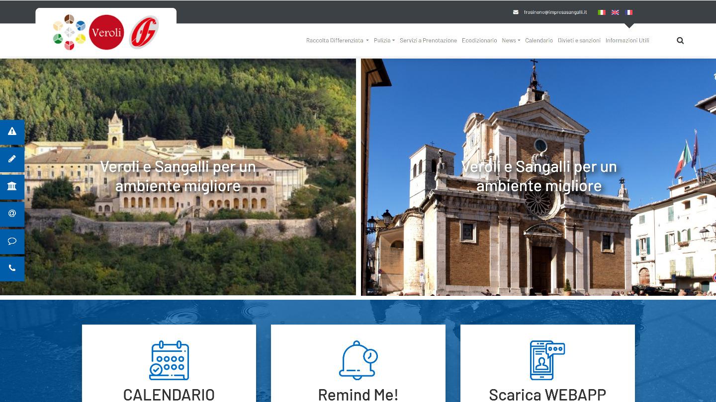 portale Mediglia Pulita / Sangalli Impresa - tailor made by eWeb srl