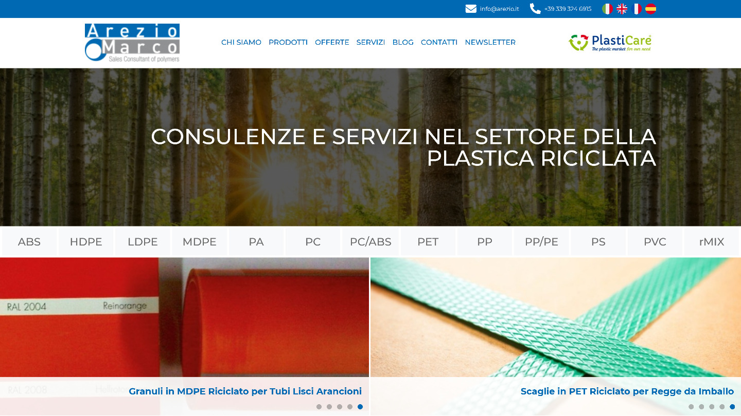 sito web Arezio Marco Imp. Ind. - tailor made by eWeb