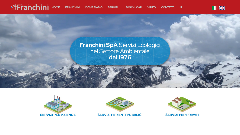 restyling sito web Franchini Servizi Ecologici - tailor made by eWeb