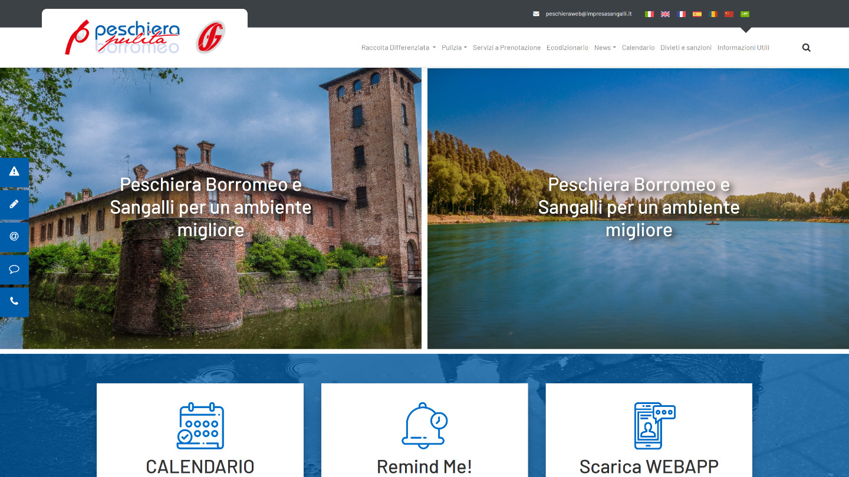 portale web Peschiera Pulita / Sangalli Impresa - tailor made by eWeb srl