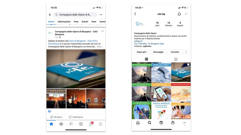 Campagna Social Media Marketing per CdO Bergamo - eWeb