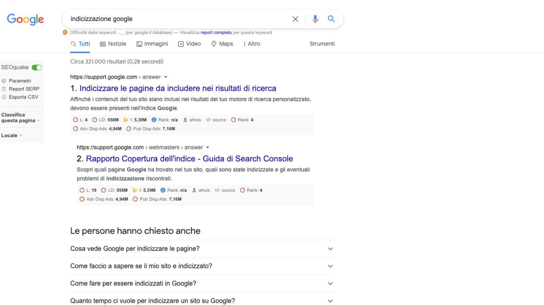 indicizzazione siti web -  Siti Internet & Web Marketing   eWeb SRL Bergamo