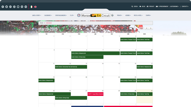 Monza Eni Circuit - Il Calendario