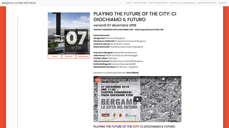 Bergamo La Città del Futuro - Gli Incontri con la Cittadinanza