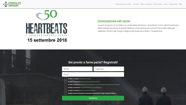 50° Feralpi Group - Heartbeats : Gestione accrediti e visite