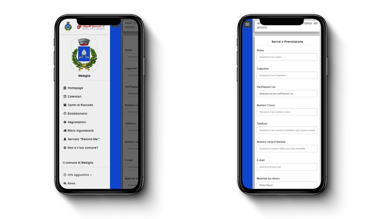 Sangalli Impresa - Web App: Prenotazione Servizi
