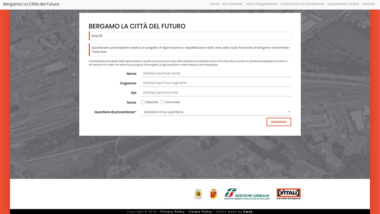 Bergamo La Città del Futuro - Il Questionario Online -  Siti Internet & Web Marketing | eWeb SRL Bergamo