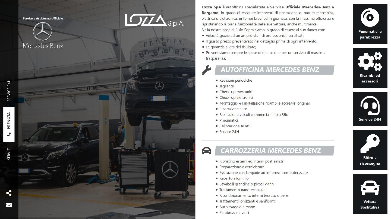 Lozza SpA è Service ufficiale MERCEDES BENZ a Bergamo e provincia -  Siti Internet & Web Marketing | eWeb SRL Bergamo