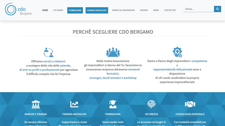 CdO Bergamo ha scelto eWeb - web tailor design and marketing - eWeb