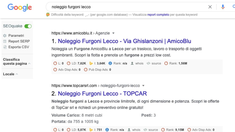 dall'indicizzazione al posizionamento sui motori di ricerca -  Siti Internet & Web Marketing   eWeb SRL Bergamo